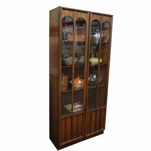 Mid Century China Cabinet with Glass Doors