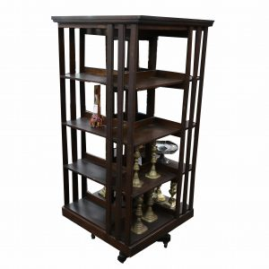 Antique Danner Tall Revolving Bookcase