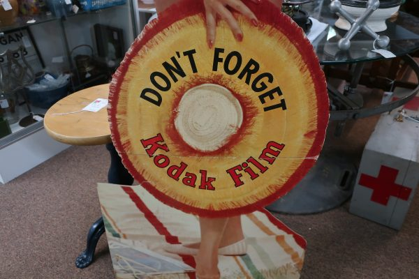 "Vintage Advertising Standee ""Don't Forget Kodak Film"" Lady"