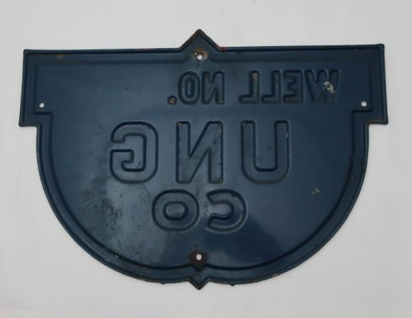 Antique United National Gas Well Sign