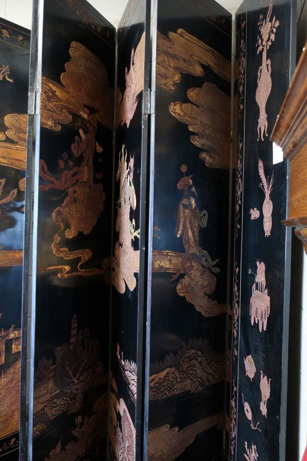 8 Panel Chinese Lacquered Screen