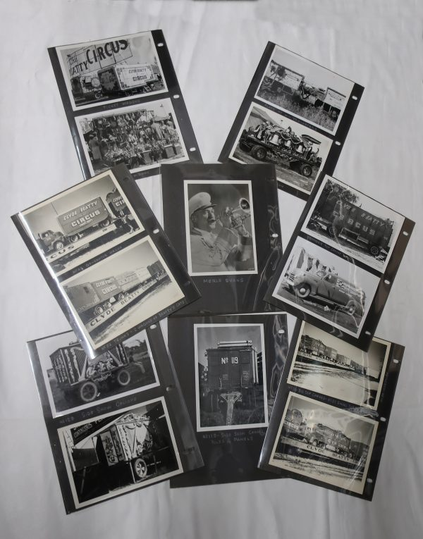 Large Vintage Circus Black and White Photo Collection-Includes Circus Tickets