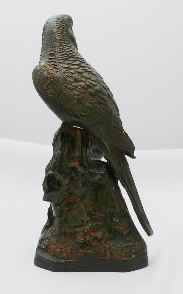 Antique Cold Painted Bronze Macaw Parrot
