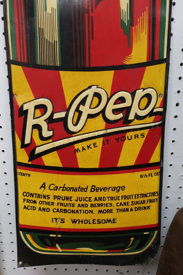 R-Pep Cola Die Cut Bottle Sign