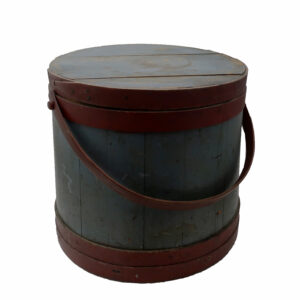 Large Blue and Red Firkin