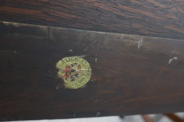 Stickley Quartersawn Oak Desk-Dated 1916-1919