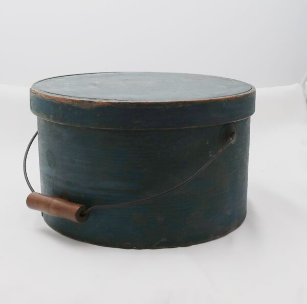 Early Pantry Box in Blue Paint -Handle