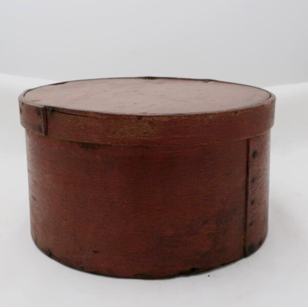 """Antique Dry Red Color on a Colonial Lap Pantry Box-10"""""""