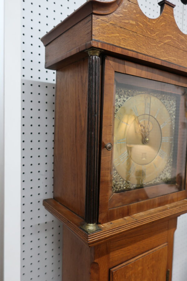Antique English Provincial Tall Case Clock with Original Case-Holme