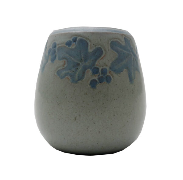 """Marblehead Pottery Decorated Cabinet Vase-3 1/4"""" Tall"""