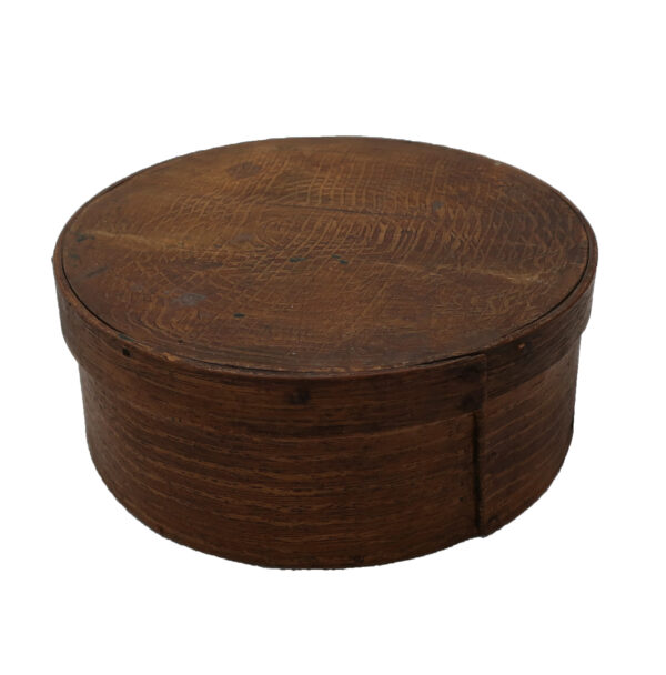"""Antique Dry Mustard in Combed Design 7"""" Pantry Box"""