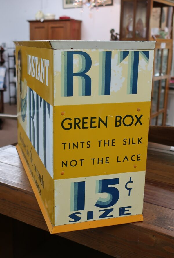 Vintage Instant RIT Metal Cabinet with Dyes