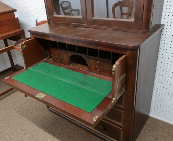 Antique Desk with Bookcase Top