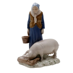 Bing and Grondahl Axel Locher Woman and Pig #2237