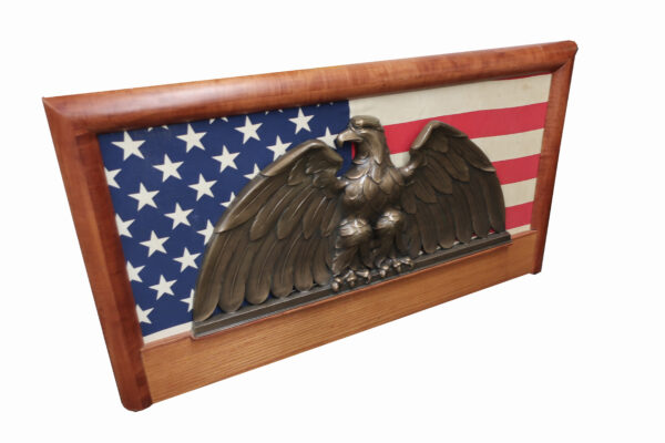 Bronze Eagle Presentation Plaque with Flag-Newman Brothers Foundry