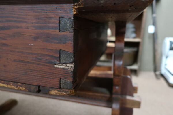 18th Century Shoe Foot Center Table with Drawer
