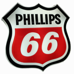 """Large Phillips 66 Lighted Sign-43"""" tall"""