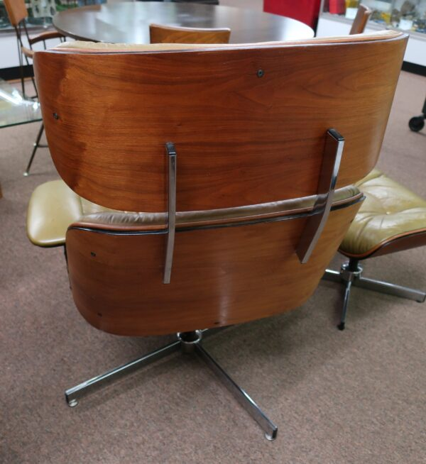 Mid Century Swivel Selig Arm Chair and Ottoman