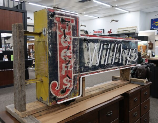 """81"""" Vintage Willy's Jeeps Drake Neon Double Sided Sign-Circa 1946"""