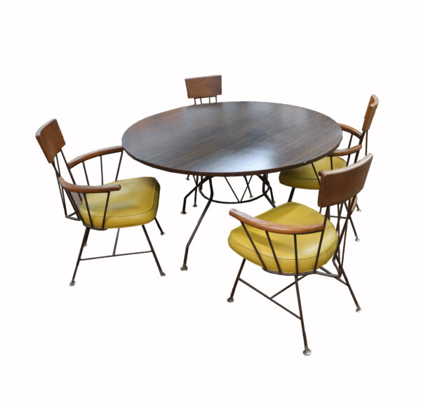 Richard McCarthy for Selrite Table and 4 Arm Chairs