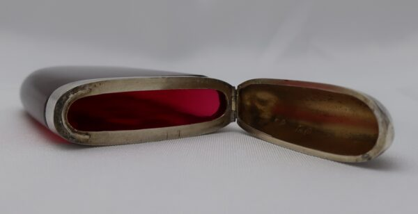 1894 Mary Gregory Cranberry Sterling Calling Card Case