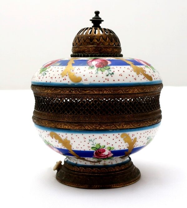 Vintage Hand Painted French Perfume Lamp