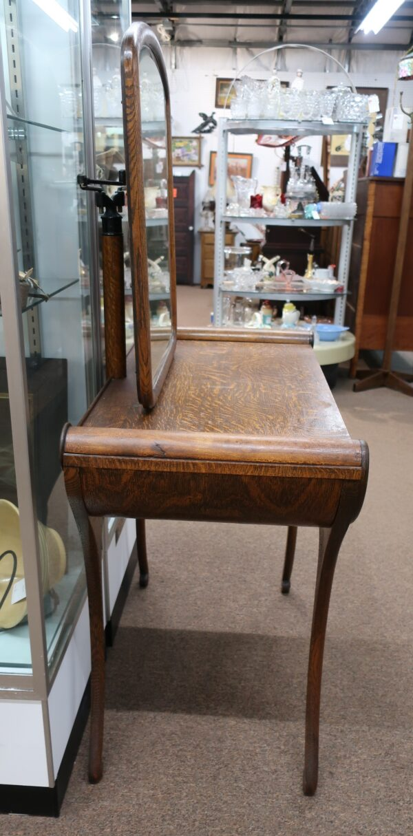 Antique Vanity and Stool with Mirrors