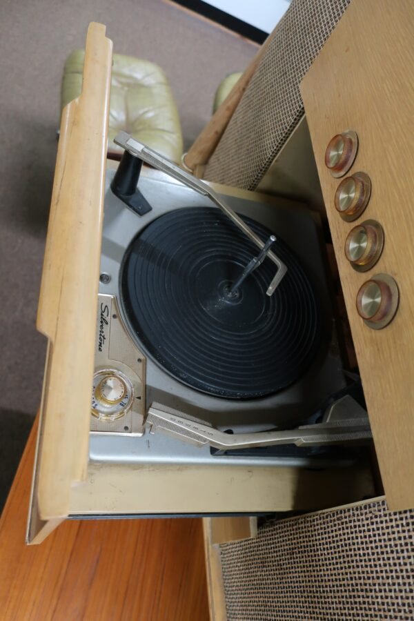 Vintage Silvertone Record Player with Extra Speaker