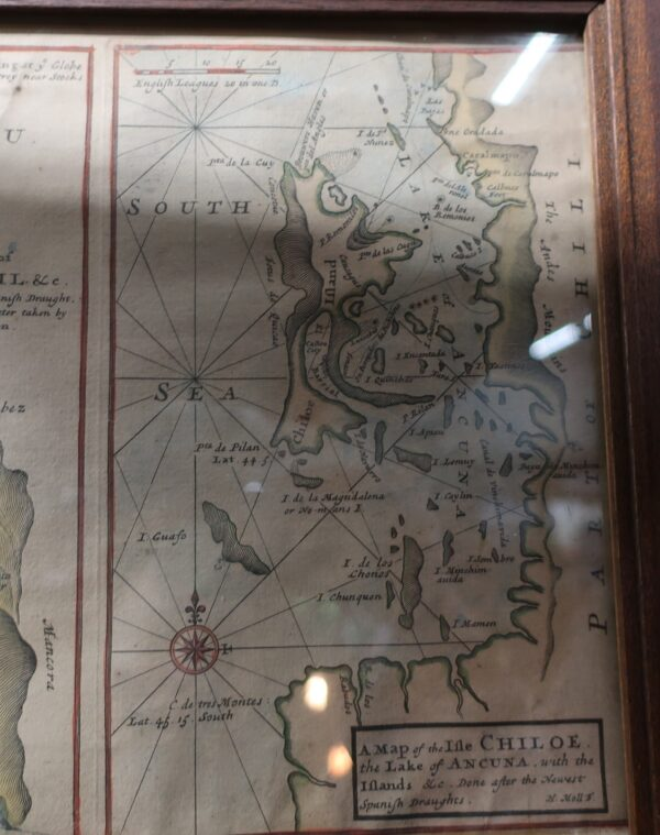 Antique 1720 Geographical South Sea Company Map-Hand Colored