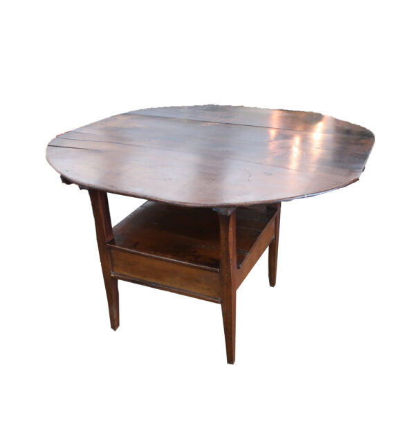 Antique Oval Top Hutch Table
